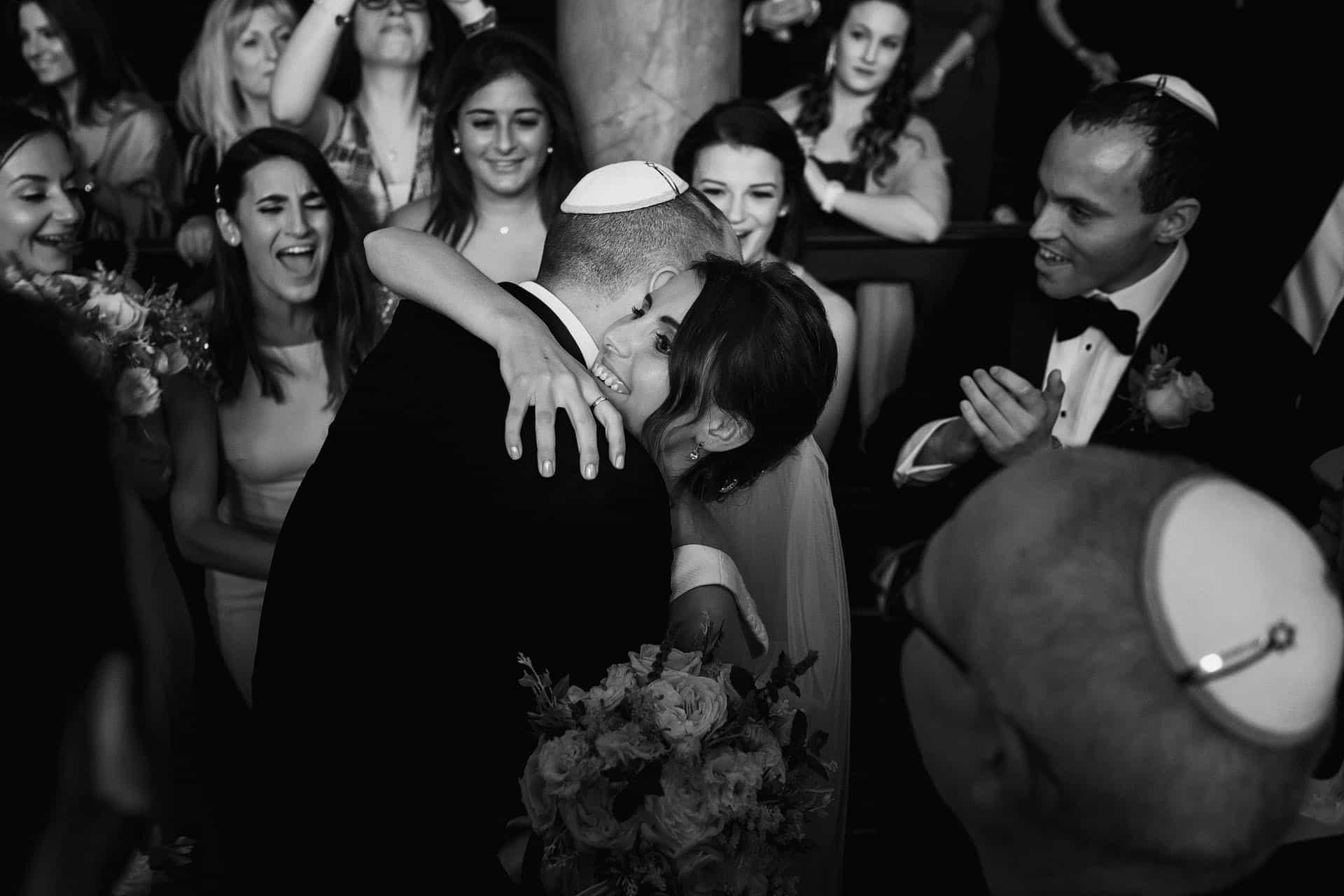 banking hall jewish wedding photography