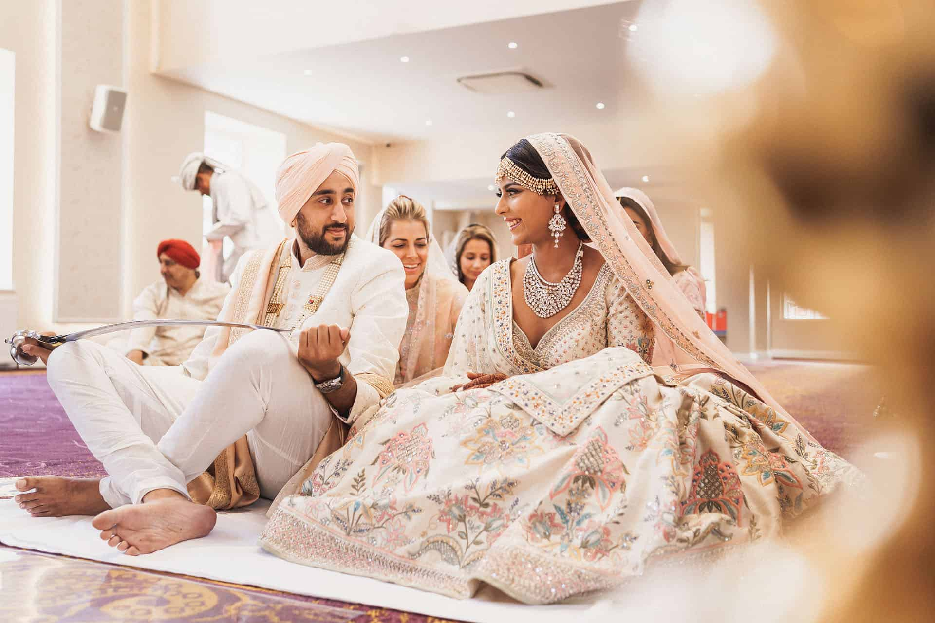central gurdwara intimate sikh wedding