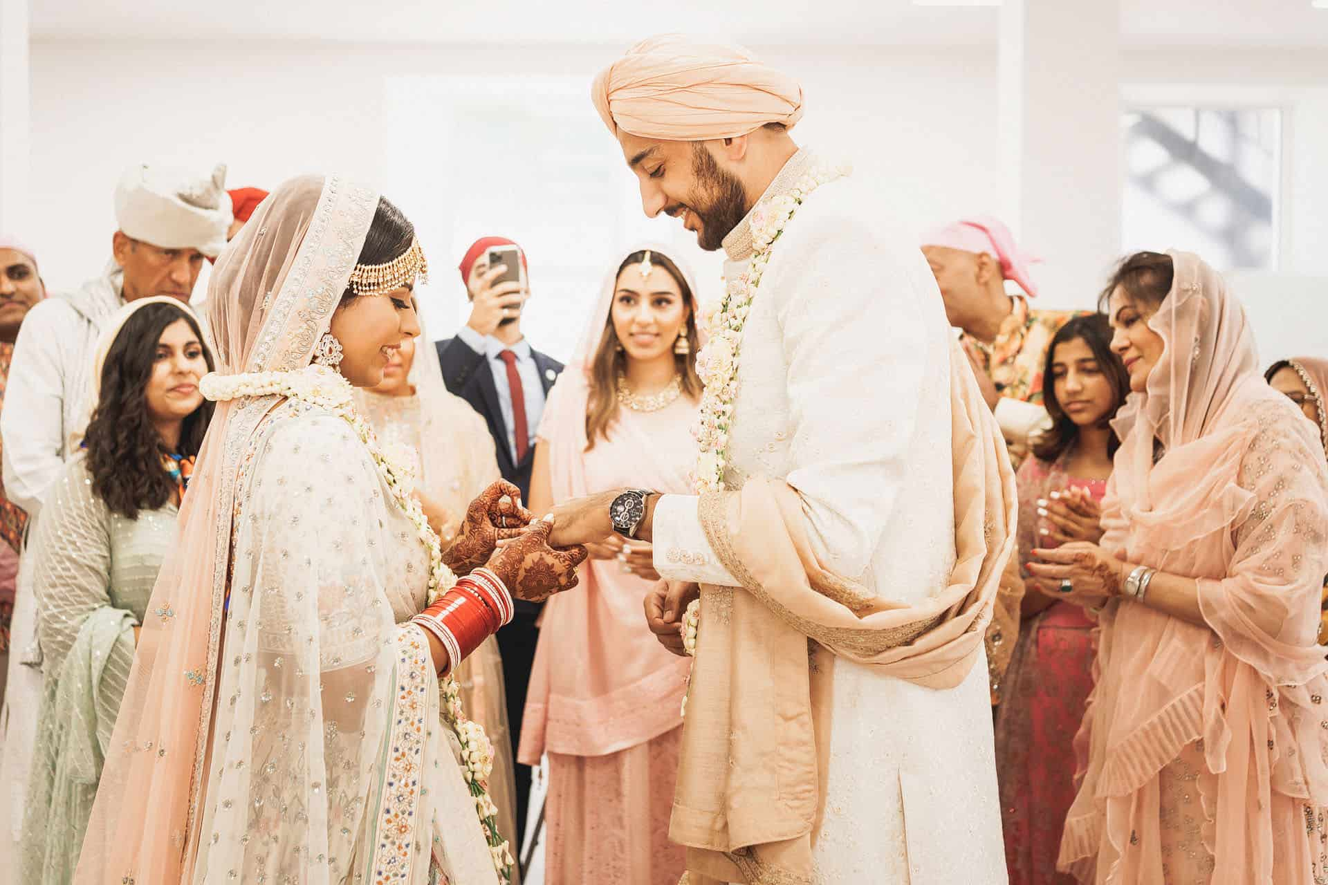 central gurdwara intimate sikh wedding photos