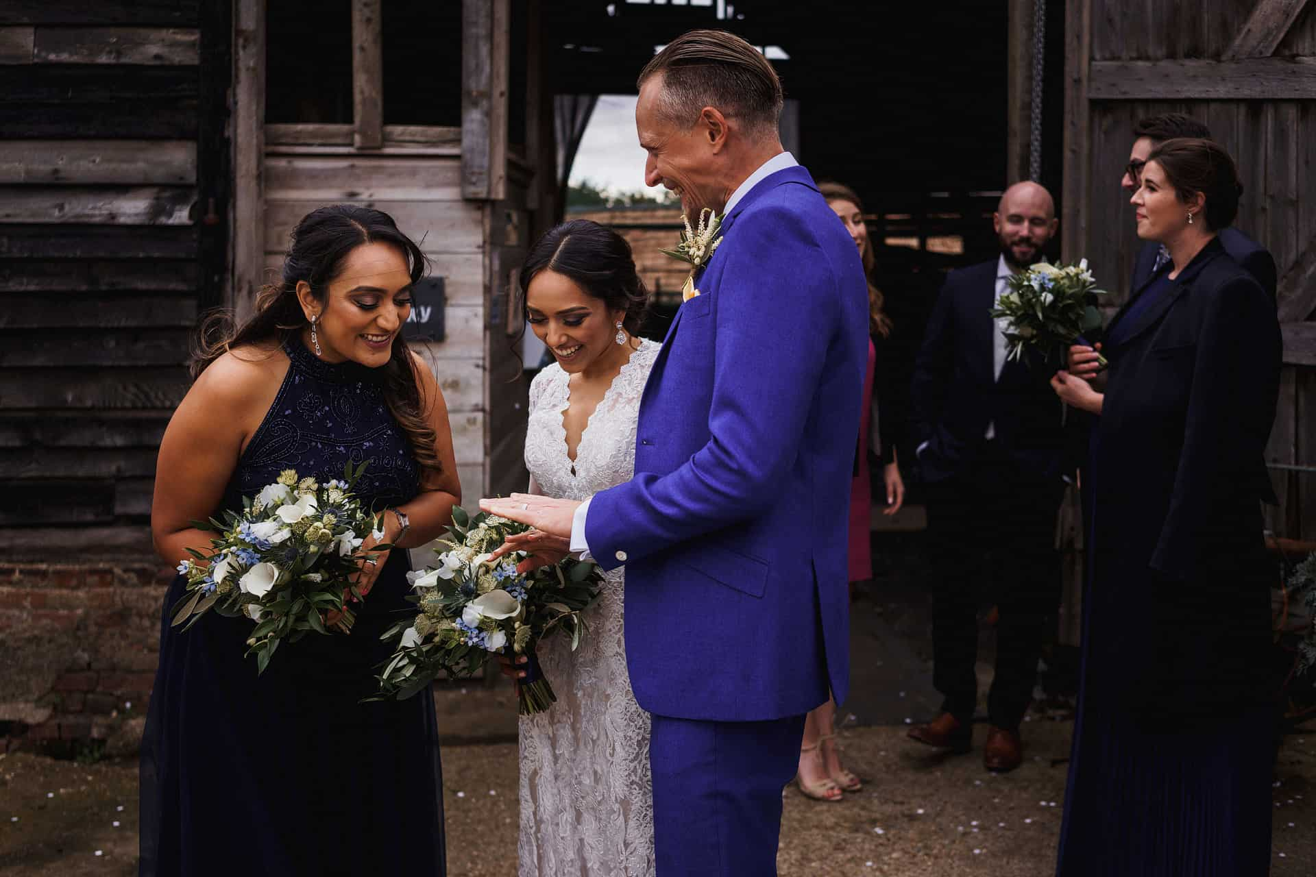 barns at lodge farm intimate wedding