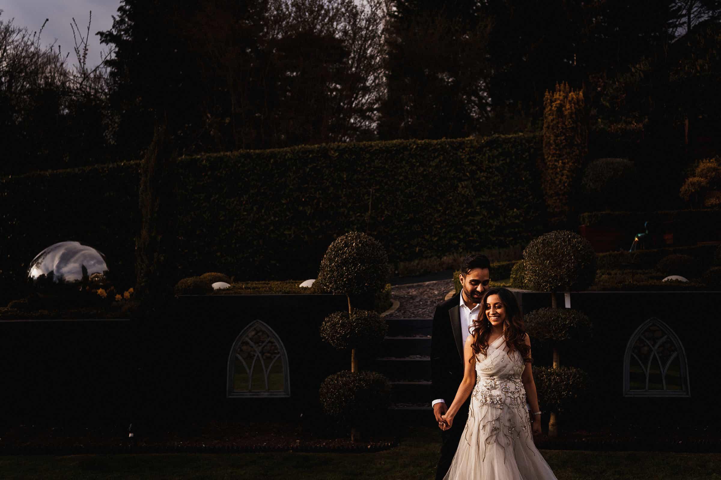 intimate garden wedding at home